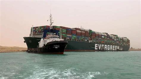 SAMAA - Giant ship grounding blocks Egypt's Suez Canal