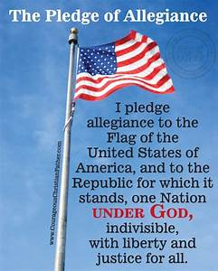 The Pledge of Allegiance | Courageous Christian Father