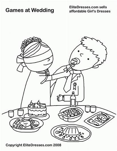 Coloring Pages Groom Bride Printable Colouring Chinese