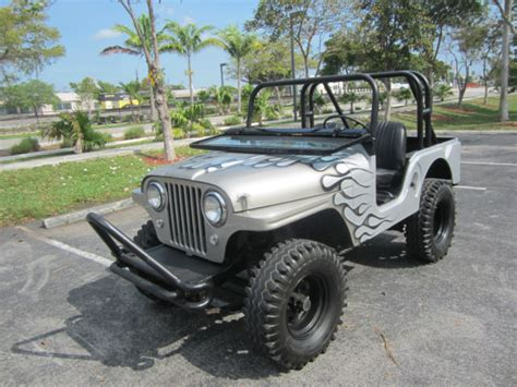 jeep willys custom 1956 jeep willys custom paint 4x4 military army jeep runs
