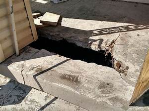 Damage how to repair my concrete slab porch home for How to cut a hole in concrete floor
