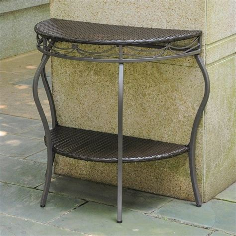 half moon patio table in chocolate 4113 tbl ch