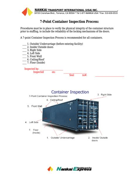 inspection checklist templates
