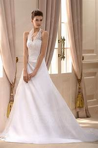 flattering a line princess halter top floor length With halter top wedding dresses plus size