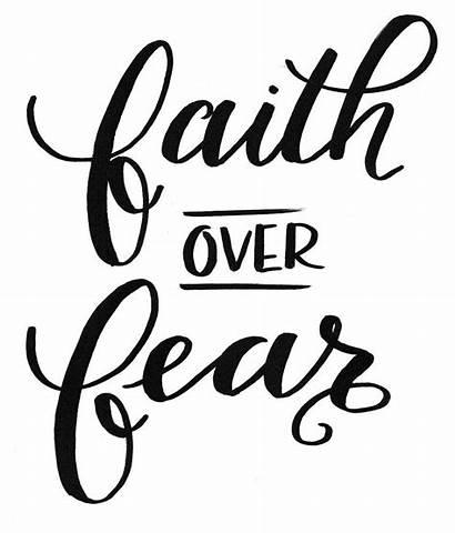 Fear Faith Lettering Hand Digital Ask