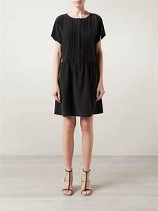 lyst vanessa bruno athe robe dress in black With robe vanessa bruno