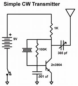 easy ten a simple 80 meter cw transmitter using a 2n3904 With easy fm transmitter
