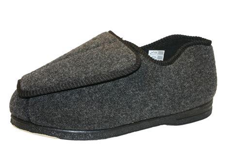 mens bedroom slippers wide s coolers eee fitting wide orthopaedic velcro