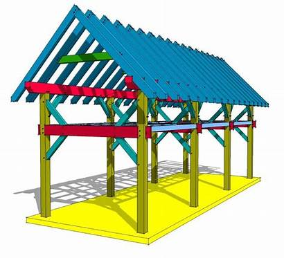 Timber Frame Loft Shed Plan Plans 12x36