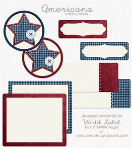 printable americana holiday labels worldlabel blog With how to print off labels