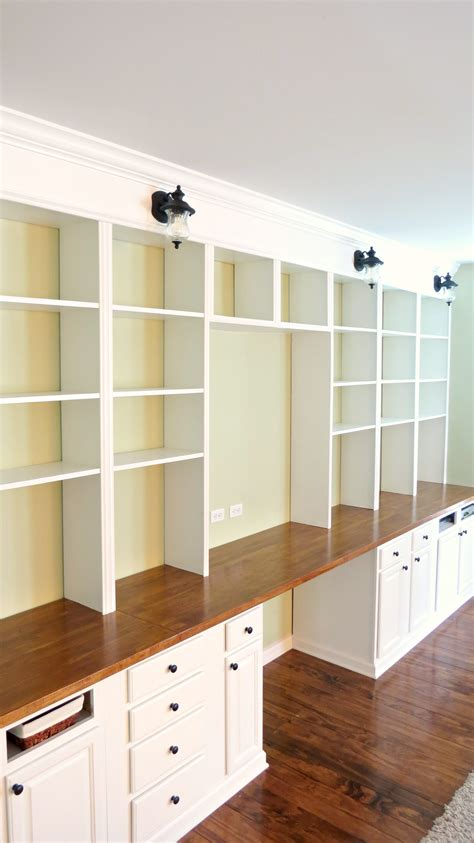 built in desk plans remodelaholic build a wall to wall built in desk and