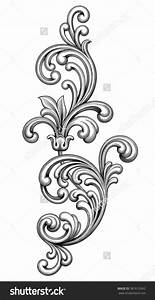 Vintage Baroque Victorian Frame Border Monogram Floral ...