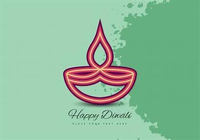 Diwali Lamp Vector Oil Festival Celebration Card