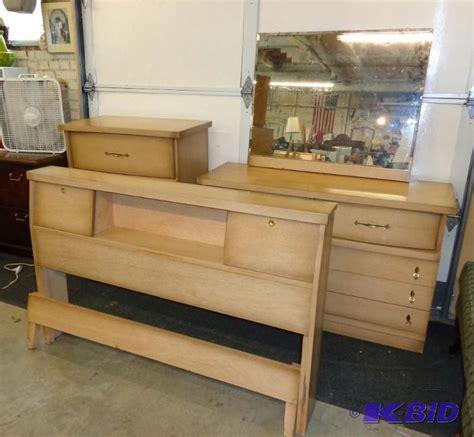 mid century ward mfg  birch formica bedroom set mid