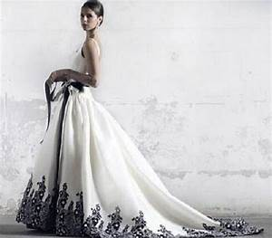 black and white wedding dresses plus size pictures With black and white plus size wedding dresses