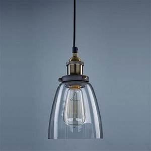 New retro pendant lamp vintage chandelier glass shade