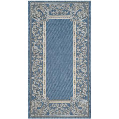 safavieh outdoor rugs safavieh courtyard blue 3 ft x 5 ft indoor