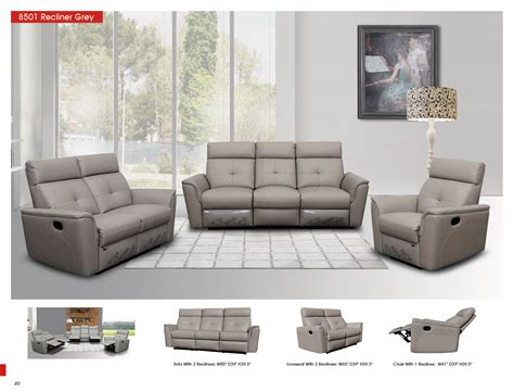 Living Room With Recliners by 8501 Recliner Light Grey Recliners Living Room Furniture