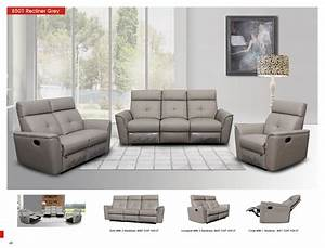 8501 Light Grey W  Manual Recliners  Reclining And Sliding