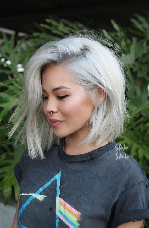 blunt haircut and platinum hair color platinum hair inspiration in 2019