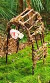 The Backyard Explorer: Fairy Furniture fairy garden trellises