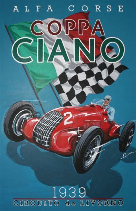 Alfa Romeo Coppa Ciano Grand Prix , Vintage Style Racing