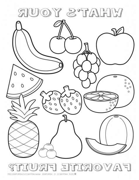Fruit Printable Coloring Pages Printable Coloring Page Get This Printable Fruit Coloring Pages 96760