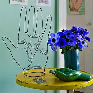 Fabriquer Un Treillage En Fil De Fer : une sculpture en fil de fer en forme de main marie claire ~ Voncanada.com Idées de Décoration