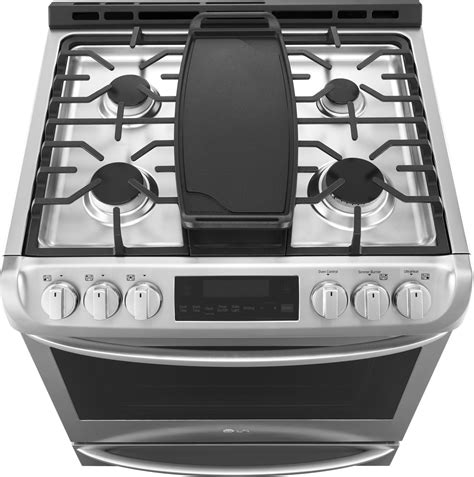 lsgst lg    gas range convection  clean stainless steel