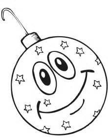 ornament coloring page smiling ornament