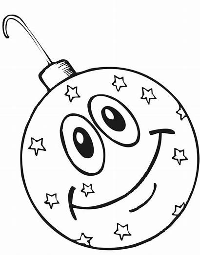 Christmas Ornament Coloring Happy Printable Pages Decorations