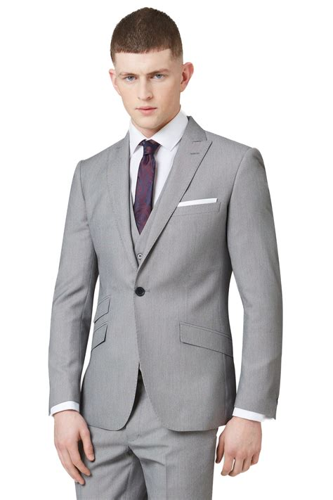 button slim fit suit suit la