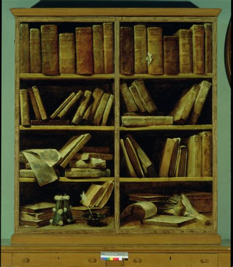 trompe l oeil of a bookcase posters prints by giuseppe crespi
