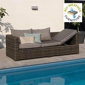 Bank Für Garten : exotan rimini lounge sofa bank liege loungeliege f r garten terrasse braun ebay ~ Eleganceandgraceweddings.com Haus und Dekorationen