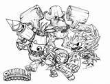Skylanders Coloring Pages Drawing Skylander Element Crabfu Giants Speed Select Save Right sketch template