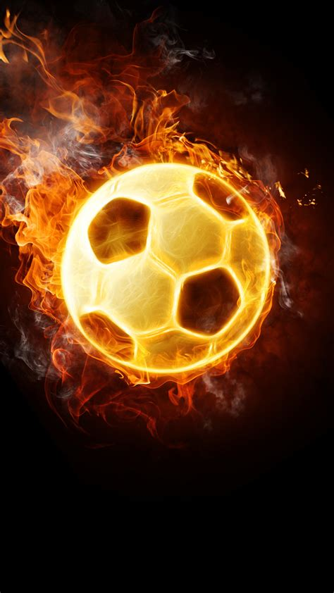 Ultra Hd Flaming Football Wallpaper For Your Mobile Phone