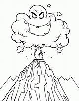 Volcano Coloring Eruption Drawing Ash Cloud Deadly Volcanoes Colouring Clipart Volcanos Emoticon Ghost Printable Netart Popular Again Bar Looking Case sketch template