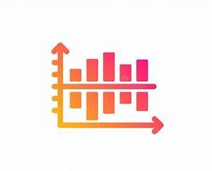 Diagram Column Icon  Flat Style Stock Vector