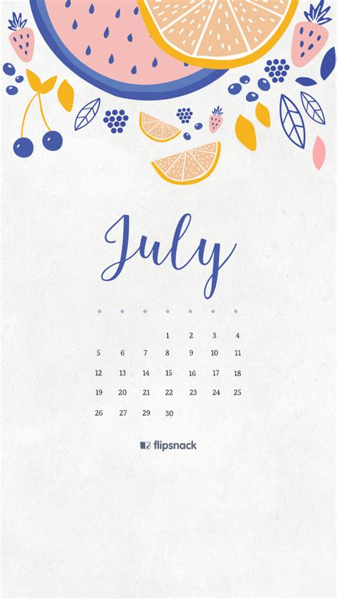 July 2016 free calendar wallpaper - desktop background