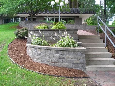 retaining wall plants pictures our work gallery projects patio messner landscape