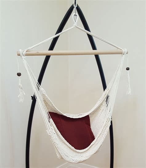 rope hanging hammock chair with tassels free hanging kit