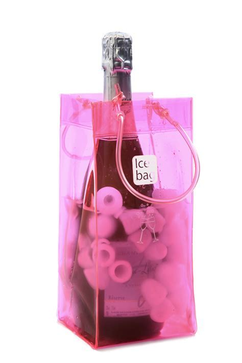 Icebag Basic Pink   chills faster than a traditional ice