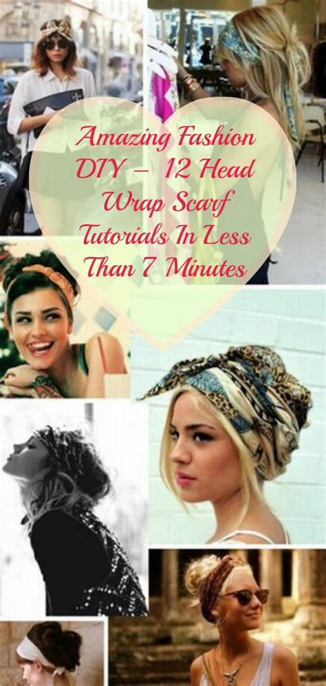 amazing fashion diy  head wrap scarf tutorials