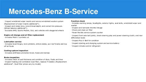 Calculate your servicecare plan today. Mercedes Benz A-Service and B-Service