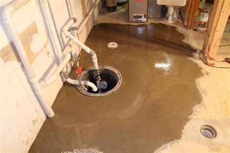 Basement bathroom grinder pump   Basement Gallery
