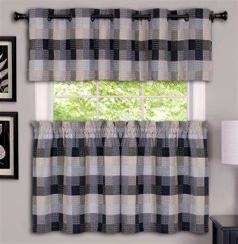 achim harvard kitchen curtain black window treatments