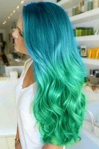 blue green hairstyle Cute Hairstyles Pinterest
