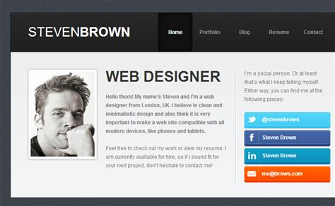 Best Personal Resume Websites by Resume Website Exles Savvy Personal Vcard Resume