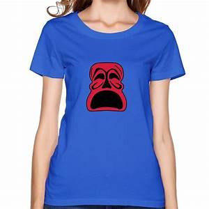 sad tribal mask new fashion tee shirt zombies 100% cotton ...
