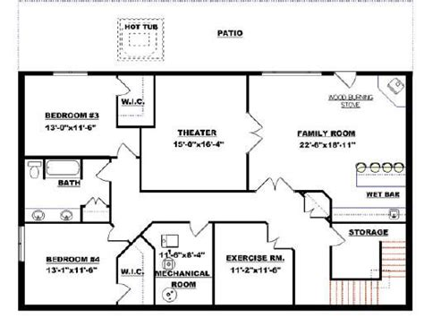 basement layouts bungalow with walkout basement plan 2011545 new house in